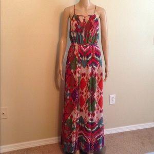 MaEve spaghetti strap long dress, size 2